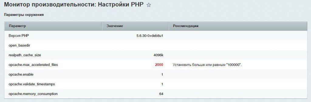 Проверка настроек PHP в 1С-Битрикс