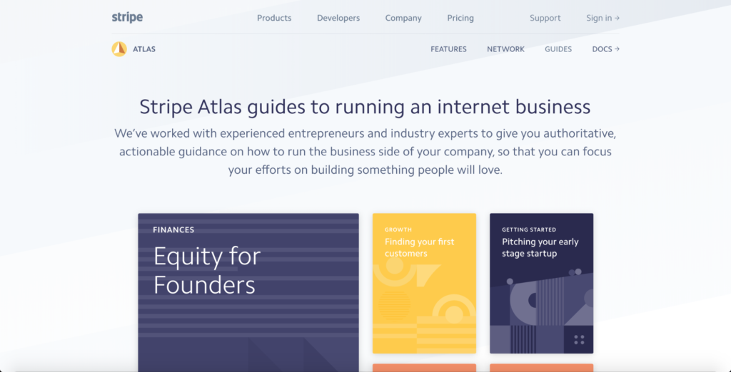 Stripe Atlas Guides.