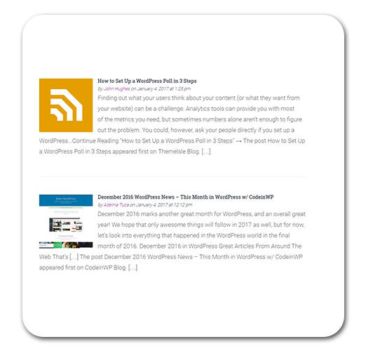 Простой пример использования плагина FEEDZY RSS Feeds Lite для WordPress